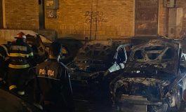 Mai multe mașini au ars într-un incendiu violent în Mazepa