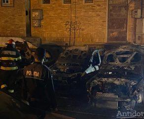 Incendiul din Mazepa în care au ars 9 mașini a fost provocat de către un ofițer MAI