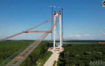 Au reparat podul neconstruit! Infiltrațiile de apă din structura viitorului pod de la Brăila au fost înlăturate