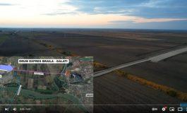 VIDEO Imagini din dronă cu primele lucrări la drumul expres Brăila - Galați