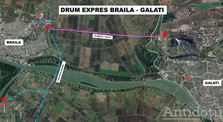 A început să se dea cu sapa pentru drumul expres Brăila – Galați