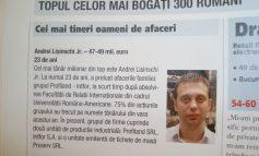 De ziua lui, Andrei Lişinschi jr. a primit cadou de la tata un loc în Top 300