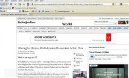Moartea maestrului Dinică, în The New York Times