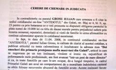"""""""Pe tot parcursul articolului, Grosu a folosit expresii jignitoare, ironice şi şicanatoare la adresa mea"""""""