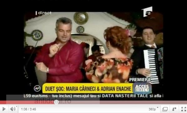 Rupt de foame, Adrian Enache a dat-o pe manele