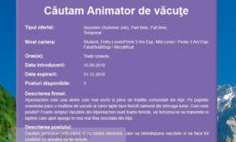 Job de criză: animator de văcuțe!