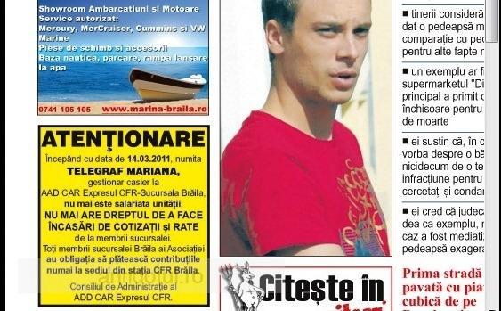 Cel mai tare anunț din lume a apărut vineri pe prima pagină a unui ziar din Brăila