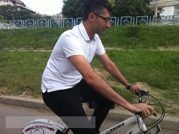 Nicușor Ciumacenco pedalează din greu înspre Primăria Galați