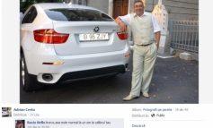 Cocalar cu BMW X6, pozat pe Facebook