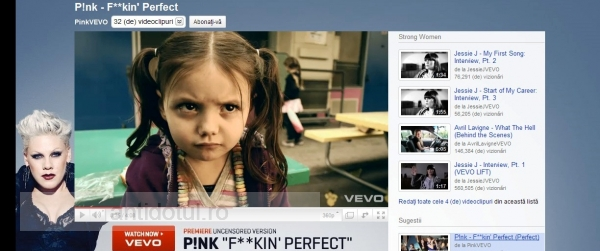 Pink – Fuckin' Perfect, perfect pentru maneliști (video)