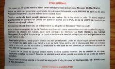 Manifeste anti-Ciumacenco, în cutiile poștale (facsimil)
