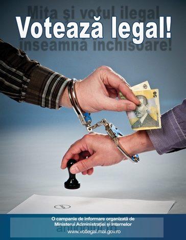"""Ministerul Administraţiei şi Internelor organizează campania """"Votează legal!"""""""