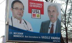 În Brăila, ca la țară: afișele electorale sînt mînjite cu căcat