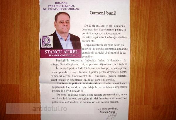 Mi-a scris Aurel Stancu