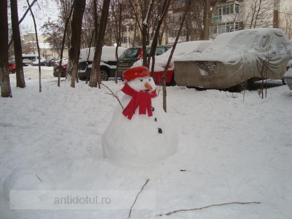 Băi, am uitat să fim oameni de zăpadă!
