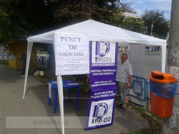 PPDD Galați își face campanie electorală jegoasă pe spatele sinistraților (foto)