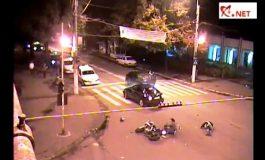 Încă un motociclist prost din Galați era să moară în trafic (video)