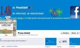 PresaGalați.ro împlinește un an de existență