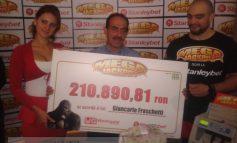 Poză cu italianul care a cîștigat 50.000 de euro la păcănele, în Țiglina 1