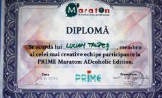 """Lucian Talpeș de la """"Danubius"""" în cea mai creativă echipă la Prime Maraton ADcoholica (P)"""