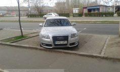 A venit tocmai din Prahova ca să parcheze ca un bou în Galați (foto)