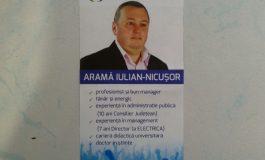Iulian Aramă umblă deja cu prostii electorale în cutiile poștale