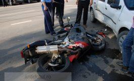 Accident spectaculos și din fericire fără urmări grave pe strada Gheorghe Asachi (foto)