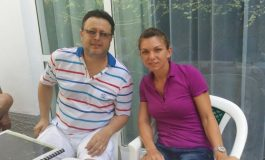 Simona Halep s-a pozat cu Marius Necula