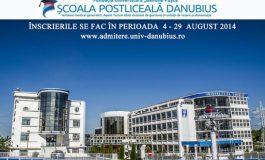 """Admitere la Școala Postliceală """"Danubius"""", 4 – 29 august 2014 (P)"""