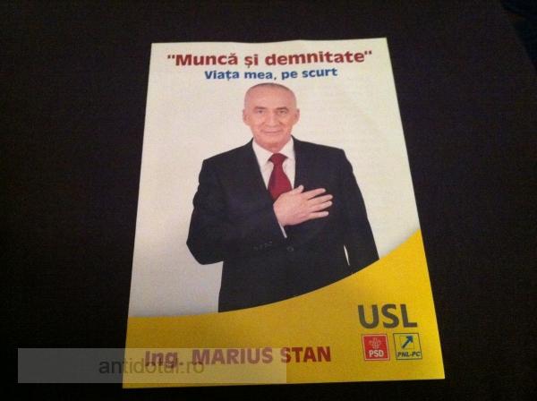 Dacă Dumitru Nicolae era comunist, Marius Stan e tăticul lui