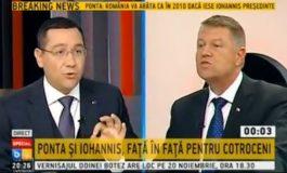 A doua confruntare: Iohannis l-a pus la colț pe Ponta (video)