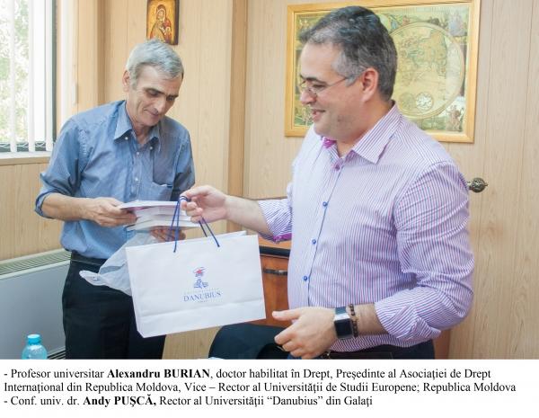 """Universitatea """"Danubius"""" a semnat un nou parteneriat pentru știință cu universități de prestigiu din Federația Rusă și Republica Moldova (P)"""