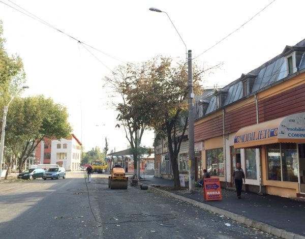 Strada Traian nu e chiar gata, dar totuși a fost dată în folosință (galerie foto)