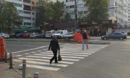 Tupeu de borfaș: un fomist și-a abandonat mașina pe trecerea de pietoni