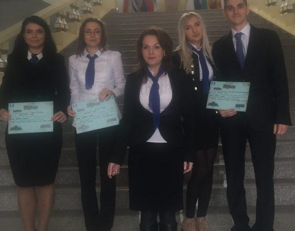 Studenții Facultății de Drept au obținut premiul I la competiția internațională de lucrări științifice studențești (P)
