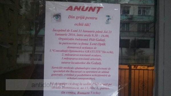 """Din rațiuni electorale, PSD Galați și-a ales lozinca """"a nimerit orbul urna de vot"""""""