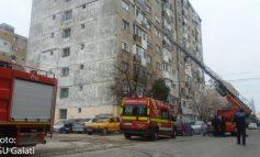 Pompierii gălățeni au scara veche și mică dar aceasta încă se mai ridică la intervenții