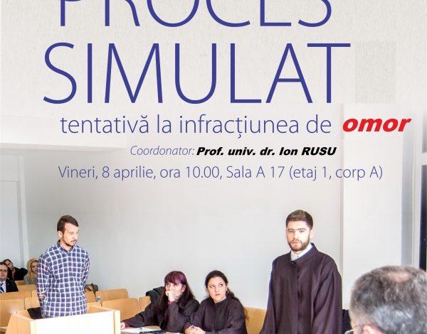 Ultima simulare de proces pentru studenţii din anul terminal din cadrul Facultăţii de Drept
