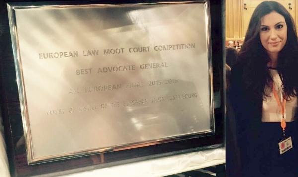 O studentă de la Danubius a câștigat o competiție internațională la Curtea Europeană de Justiție din Luxemburg