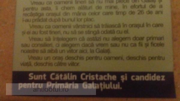 Domnule candidat Cătălin Cristache, copiii noștri vor pleca într-un loc în care se vorbește corect limba română