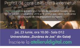 """Atelierul Digital la Universitatea """"Dunărea de Jos"""""""