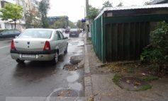 Culmea trotuarului, pe str. Nae Leonard (foto)